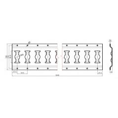 Sină de fixare combinată din oţel zincat, 3000 mm/buc Dg 25 mm