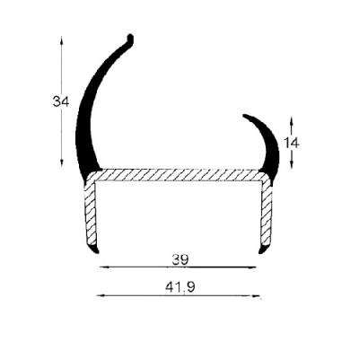 Cheder etansare 40 mm 5000 mm/fir usa camion